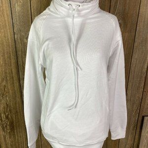 Flying Colors Womens White Cowl Neck Sweatshirt Si